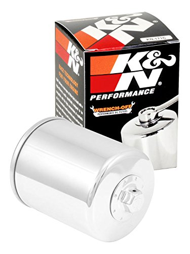 KN-171C K&N Performance Oil Filter; POWERSPORTS, CANISTER CHROME (Powersports Oil Filters):