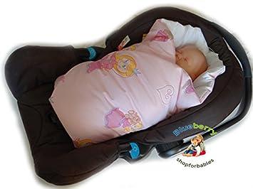 BlueberryShop Luxury Classic Car Seat Swaddle Wrap Blanket For Newborn Baby Pink Princess