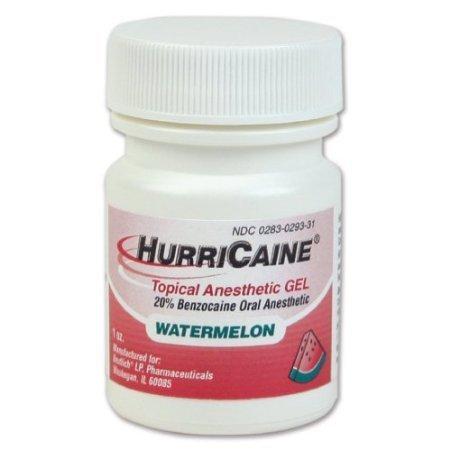 - HurriCaine Topical Anesthetic Gel Watermelon - 1 oz.