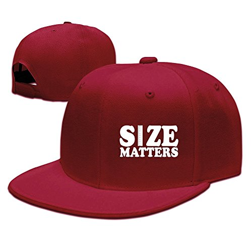 Runy Custom Size Matters Extender Rods Adjustable Baseball Hat & Cap Red