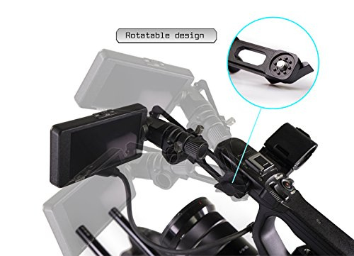 Lanparte MEA-01 Adjustable Monitor Extension Arm for Sony FS5 Camera, Black, Green