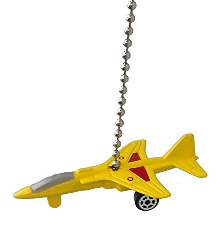 US military airplane Fighter jet air plane Ceiling FAN PULL light chain (Yellow T-38 TALON Fighter jet)