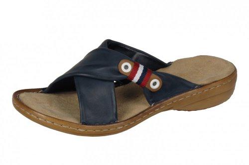 Rieker Schuhe Damen Sandalen Pantoletten 60873 blau