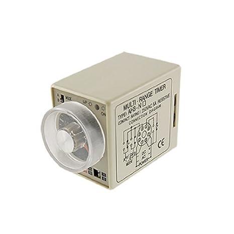 eDealMax Multi potencia se basan en Temporizador de retardo de tiempo de retransmisión, 1 segundos - 10 minutos, 220V, AC, AH3-NA 8 pines - - Amazon.com