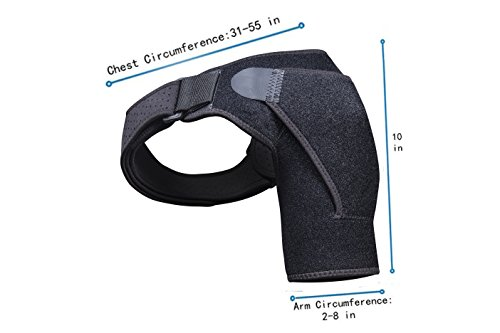 Shoulder Brace Rotator Cuff Support for Men and Women for Injury Prevention, Dislocated AC Joint, Arthritis, Tendonitis with Adjustable Strap, Pressure Pad + Breathable Neoprene by BusyBee (Image #3)