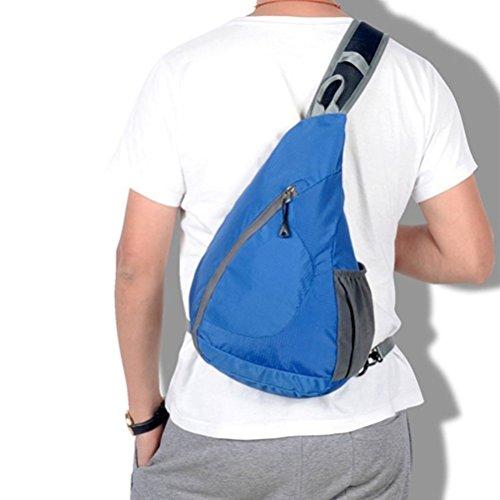 Aosbos Mochila Bandolera Ligera Impermeable y Plegable para Deporte al Aire Libre 10L(negro) azul