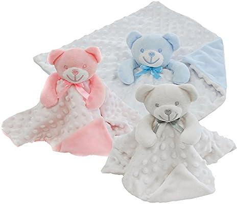 Manta para bebé de tacto suave con diseño de oso blanco blanco