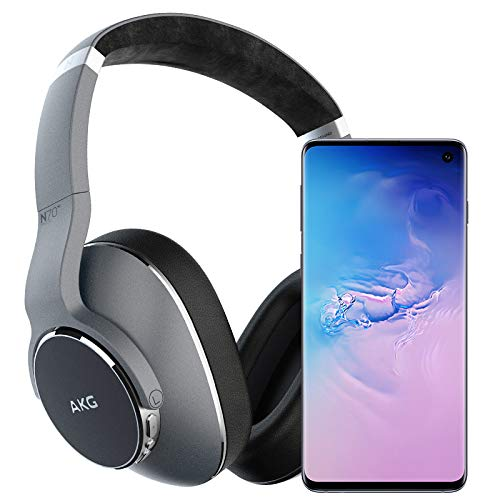 Samsung Galaxy S10 Factory Unlocked Phone with 128GB (U.S. Warranty), Prism Blue - SM-G973UZBAXAA w/AKG N700NC Headphones