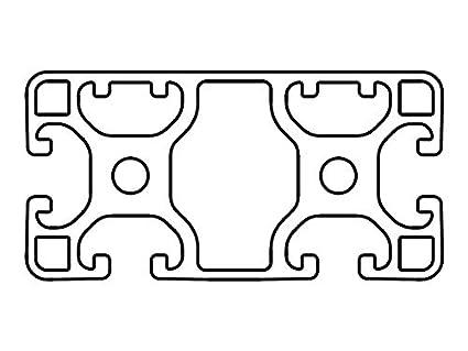 Zuschnitt 1200-2000mm Designprofil Aluminiumprofil 40x40 3N I-Typ Nut 8