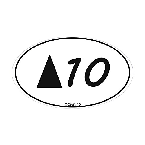 Ovals Oval Cone (CafePress - Cone 10 Pottery Sticker - Oval Bumper Sticker, Euro Oval Car Decal)