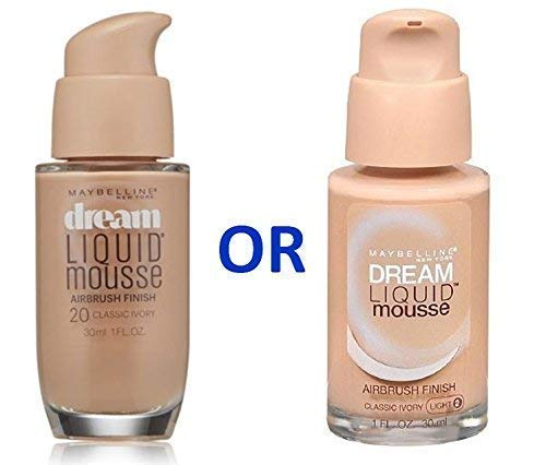 Finish Foundation Satin - Maybelline Dream Liquid Mousse Foundation- CLASSIC IVORY (LIGHT 2)