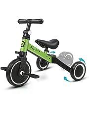 XJD 3 In 1 Kids Driewieler 2 Jaar Oud en Up Jongens Meisjes Kids Trike Baby Loopfiets Lichtgewicht voor 1-3 Jaar Oude Kids Jongens Meisjes 3 Wielen Bike