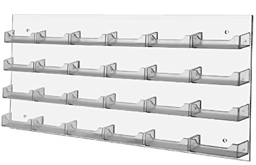 (T'z Tagz Brand Clear Acrylic Wall Mount 24 Pocket Business Card Holder)