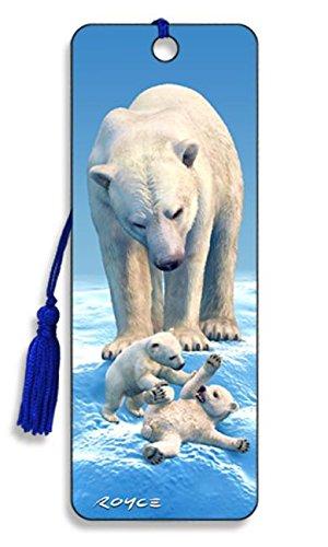 """Polar Bears"" - 3D Bookmark Artgame BK79PBR Non-Classifiable"