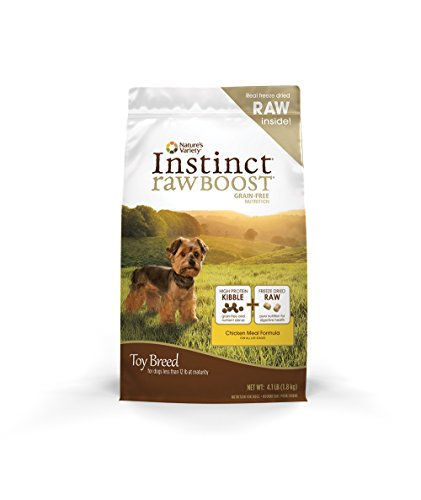 Nature's Variety Instinct Raw Boost Toy Breed Grain Free Chicken Meal Formula Natural Dry Dog Food by, 4.1 lb. Bag