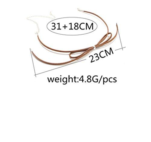 Ziwater Choker Collier Ras du Cou Style Vintage Court Chaîne en Forme Papillon - Accessoire Cou Réglable