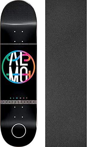保守可能スナッチ合成Almostスケートボードカラークラッシュブラックスケートボードデッキ – 8.37 X 31.8 CMでブラックマジックGriptape – 2アイテムのバンドル