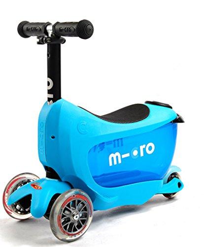 Micro Mini 2-Go Deluxe Scooter (Blue) by Micro Kickboard