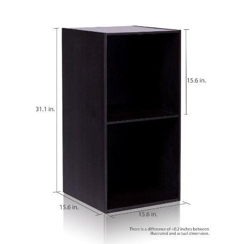 Furinno 11013EX Hidup Tropika Eco Modular Open Cube Tall Storage Shelf, Espresso