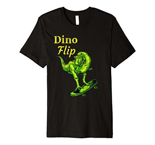 Skating Dino Flip Skater Kids T-shirt Skateboarding Dinosaur