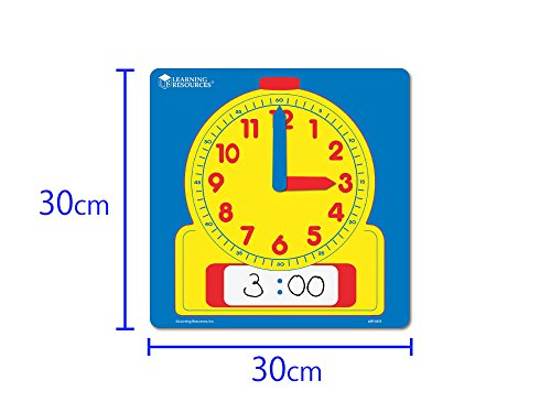 41B2bjt99pL - Learning Resources Write & Wipe Demonstration Clock