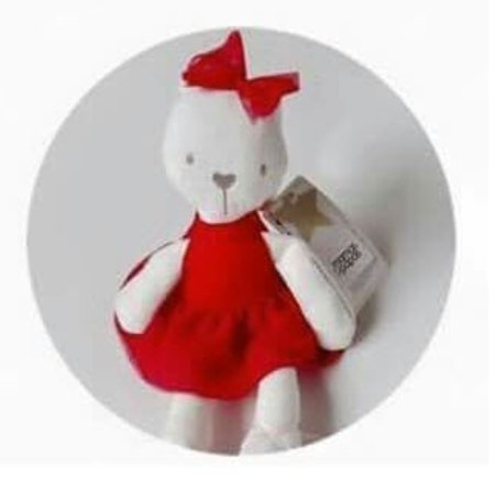 [Stuffed Bunny Baby Plush Rabbit Doll Gifts,Mamas & Papas Millie Soft Toy, Size 46 11 cm. (Red)] (Red Fanta Girl Costume)