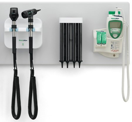 System Includes: Wall Board, Wall Transformer (77710), Coaxial Ophthalmoscope (11720), Diagnostic Macroview Otoscope (23810), Kleenspec Dispenser (52400-PF) & SureTemp Plus Thermometer (01690-300)