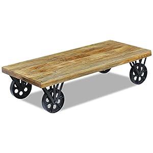 Vidaxl Table Basse Pour Salon Table Dappoint En Bois De Manguier