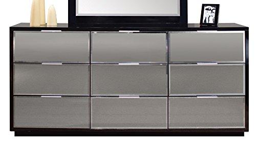 Sharelle Furnishings Mera Black Lacquer Dresser