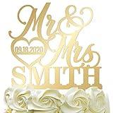 Personalized Wedding Cake Topper - Wedding Cake Decoration Elegant...