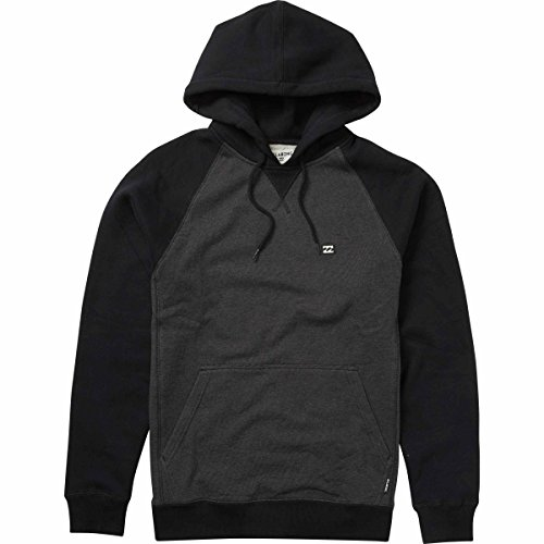 Billabong Men's Balance Pull-Over Hoodies, Black Heather, XL