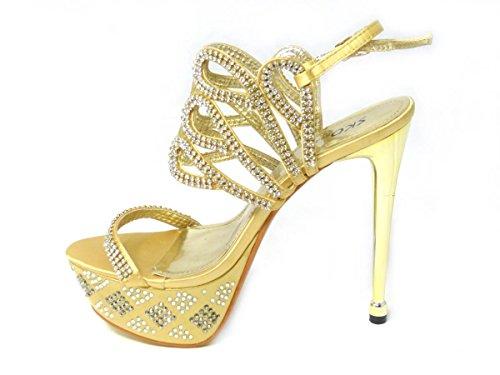 Cheville Fille 2 de 3909 Femme SKO'S Bride Gold qEt0ET