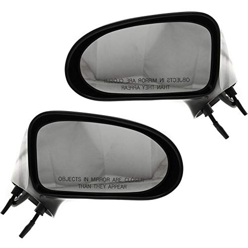 Power Mirror compatible with Buick Le Sabre 92-99 Right and Left Side Non-Folding Non-Heated Paintable