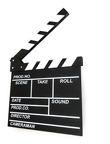 Director's Film Movie Clapper Chalkboard - Professional Vintage Clapper Slate Board - Cut, Action, TV, Movie Clapperboard - (12'' x 11'') by Royal Brands