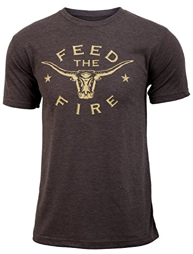 Jumpbox Fitness Feed the Fire (Eat Beef) - Coffee Brown - Men's Triblend Funny Workout T-shirt