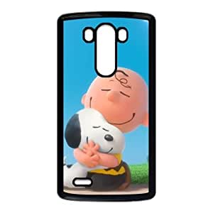 Charlie Brown And Snoopy LG G3 Cell Phone Case Black TPU Case wyc7ni-1112580