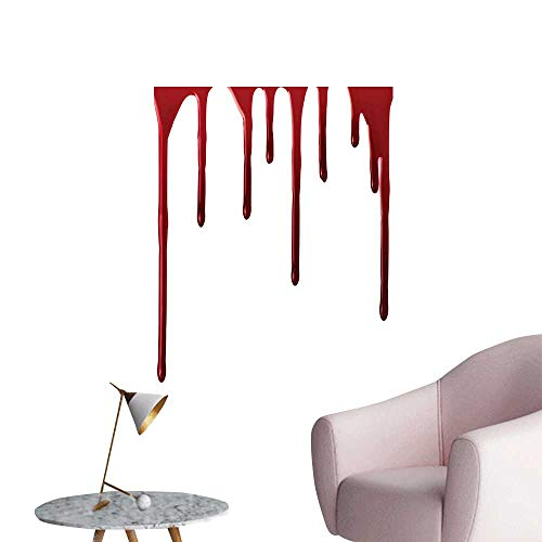 Wall Stickers for Living Room Spooky Halloween Zombie Crime Scary me Themed Red White Vinyl Wall Stickers Print,12