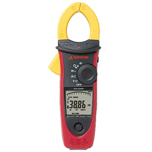 Amprobe ACDC-52NAV 600A AC/DC Power Quality Clamp - Power Meter Quality