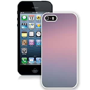 Unique Designed Cover Case For iPhone 5S With Pink Mountain Gradation Blur Wallpaper (2) Phone Case