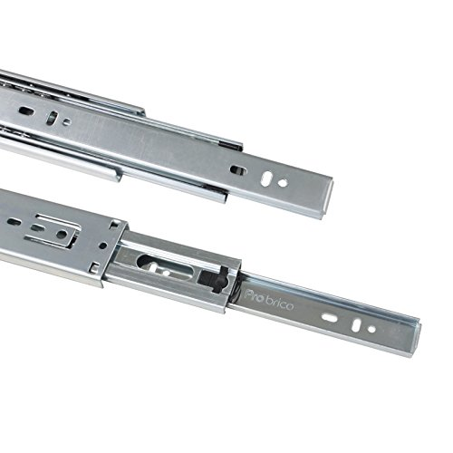 Gobrico 22-Inch Heavy Duty 100 Lb. Full Extension Ball Bearing Drawer Slides Soft Close Rail Runners 1Pair by Gobrico (Image #5)