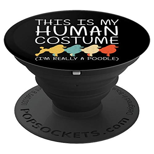 Poodle Halloween Human Costume Dog Animal Easy DIY Gift PopSockets Grip and Stand for Phones and Tablets