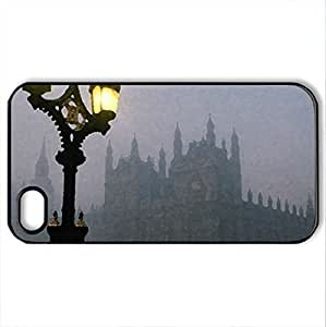 London in fog - Case Cover for iPhone 4 and 4s (Modern Series, Watercolor style, Black)