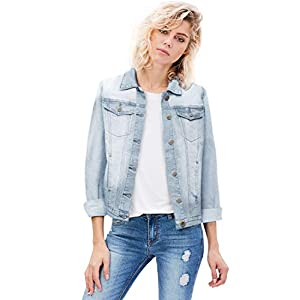 HyBrid & Company Women Junior Classic 4 Pockets Denim Jacket