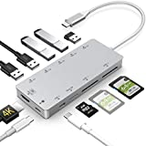 USB C Hub,GIKERSY 11 in 1 Type C Adapter with PD Charging Port,4K HDMI,2 USB3.0/3 USB2.0 Ports,MicroSD/SDXC Card Reader,Compatible with MacBook Air 2018/MacBook Pro 2016/2017/2018,Nintendo Switch