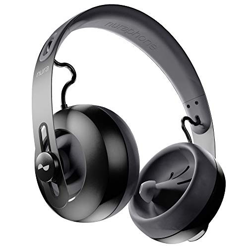 nuraphone - Wireless Bluetooth Over Ear Headphones with Earbuds, Creates Personalized Sound, Active Noise Cancellation (ANC), Social Mode, Multi-tap Buttons, 20 Hour Battery Life