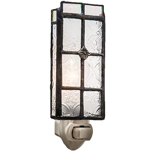 - J Devlin NTL 113 Vintage Glass Night light Clear Decorative Accent Lite Nursery Bedroom Bathroom Kitchen