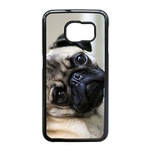 Samsung Galaxy S6 Edge case , Portrait Of A Pug Dog Samsung Galaxy S6 Edge Cell phone case Black-YYTFG-23983