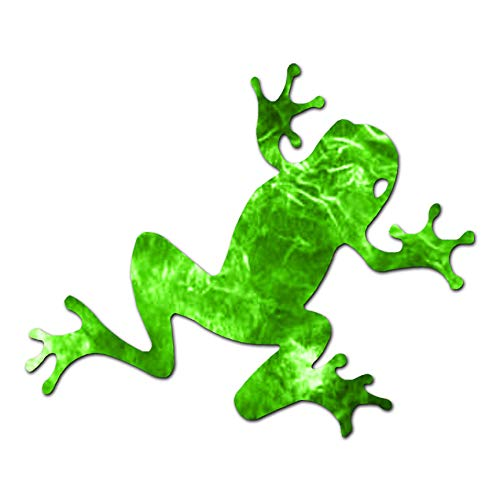 "Frog Cute - Vinyl Decal Sticker - 4.5"" x 3.75"" - Green Flames from Southern Decalz"