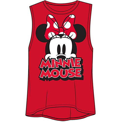 Minnie Mouse Bow Women's Fashion Tank Top Medium Red