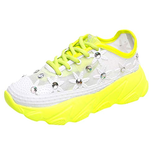 Peigen Women Runing Shoes - Women's Summer Sneakers Outdoor Mesh Sports Shoes Lace-Up Runing Breathable Shoe